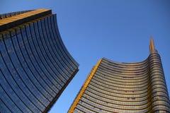 Skyskrapafasad berlin byggnadskontor Fotografering för Bildbyråer