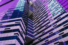 Skyskrapafasad berlin byggnadskontor glass moderna silhouettes royaltyfria foton
