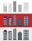 Skyskrapamalluppsättning Arkivfoton