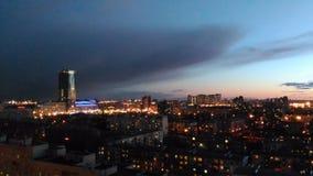 Skyskrapanattstad Royaltyfri Fotografi