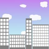 Skyskrapavektorbakgrund Royaltyfri Foto