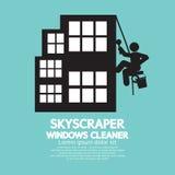 SkyskrapaWindows rengöringsmedel Fotografering för Bildbyråer