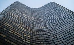skyskraper a forma di Mezzo ovale fotografie stock libere da diritti