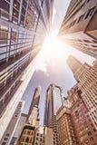 Skyskrapers en el sol Imagen de archivo