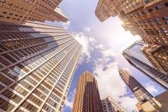 Skyskrapers múltiples de la oficina Fotografía de archivo libre de regalías