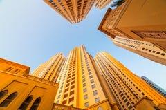Skyskrapor av den Dubai marina Fotografering för Bildbyråer