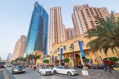 Skyskrapor av den Dubai marina Arkivbilder