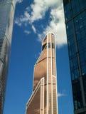 Skyskrapor av den internationella affärsmitten för Moskva, Moskva, Rus Arkivfoto