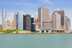 Skyskrapor av den Manhattan ön Arkivfoton