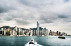 Skyskrapor av Hong Kong i Kina, Asien royaltyfri bild