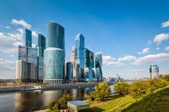 Skyskrapor av Moskva-staden Royaltyfria Foton