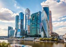 Skyskrapor av Moskva-staden Royaltyfria Bilder