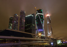 Skyskrapor av Moskvastaden Royaltyfria Foton