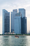 Skyskrapor av Singapore Royaltyfri Fotografi