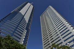 Skyskrapor en och två Union Square, Seattle, USA Arkivfoto