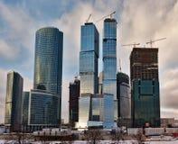 skyskrapor för affärsmitt Arkivbild