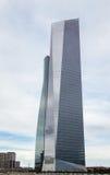 Skyskrapor för byggnad för Cuatro Torres affärsområde (CTBA), i Madr Royaltyfri Bild