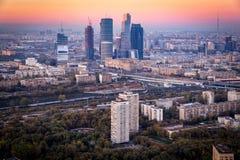 Skyskrapor för Moskvastad (MIBC) Royaltyfria Bilder