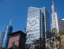 Skyskrapor Frankfurt Royaltyfri Foto