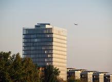 Skyskrapor Frankfurt Arkivfoto