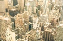 Skyskrapor i affärsområdet av New York City - Manhattan Arkivbild