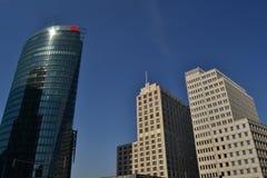 Skyskrapor i Berlin Royaltyfria Bilder