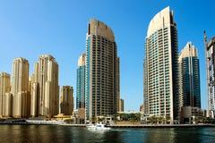 Skyskrapor i Dubai Royaltyfri Bild