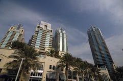 Skyskrapor i Dubai arkivbild