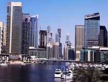 Skyskrapor i Dubai Arkivfoto