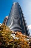 Skyskrapor i höst Fotografering för Bildbyråer