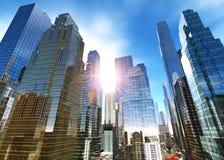 skyskrapor i höststaden Royaltyfria Foton