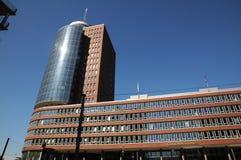 Skyskrapor i Hamburg, Tyskland Fotografering för Bildbyråer