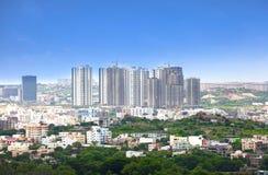 Skyskrapor i Hyderabad royaltyfri foto