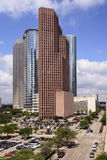 Skyskrapor i i stadens centrum Houston, Texas Fotografering för Bildbyråer