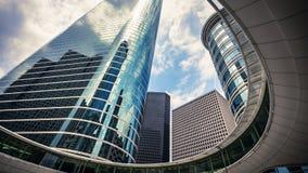 Skyskrapor i i stadens centrum Houston, Texas USA Royaltyfria Bilder