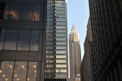 Skyskrapor i i stadens centrum Manhattan Arkivfoton