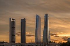 Skyskrapor i Madrid Fotografering för Bildbyråer