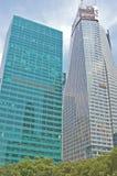 Skyskrapor i manhattan Arkivfoto