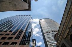 Skyskrapor i midtownen Manhattan Royaltyfri Fotografi