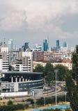 Skyskrapor i Milan italy royaltyfri bild