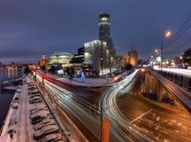 Skyskrapor i Moskva, Ryssland Fotografering för Bildbyråer