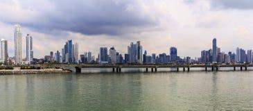 Skyskrapor i Panama City Fotografering för Bildbyråer