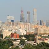 Skyskrapor i Peking CBD, Kina Royaltyfri Bild