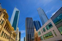 Skyskrapor i perth, västra Australien Arkivbilder