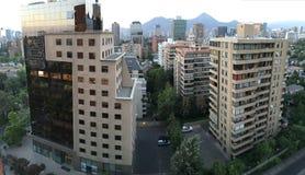 Skyskrapor i Santiagochile Arkivbild