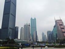 Skyskrapor i Shenzhen royaltyfri foto