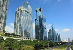Skyskrapor i Shenzhen, Kina Royaltyfri Foto