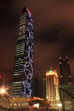 Skyskrapor i Shenzhen, Kina, på natten Royaltyfri Bild