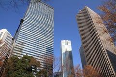 Skyskrapor i Shinjuku, Tokyo Royaltyfri Bild