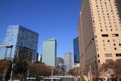 Skyskrapor i Shinjuku, Tokyo Arkivbilder